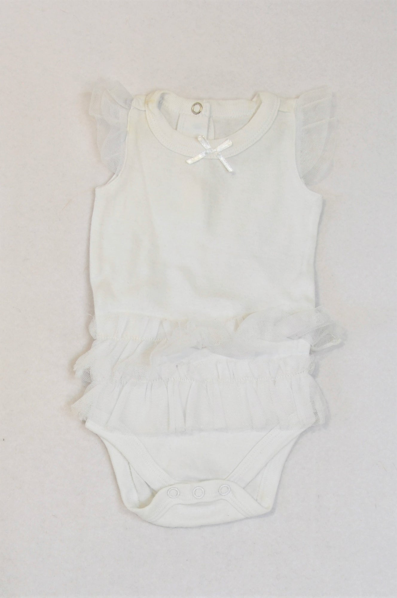 Woolworths White Tulle Baby Grow Girls 0-3 months