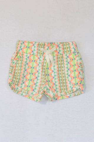 Cotton On Colourful Vertical Geometric Shorts Girls 9-12 months