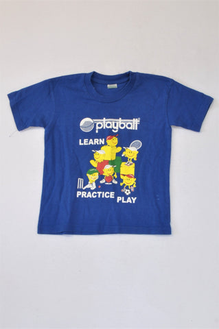 Vic Bay Blue Playball T-shirt Unisex 4-5 years