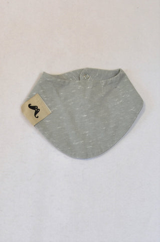 New Eat Play Love Heathered Grey Bib Unisex N-B to 6 months