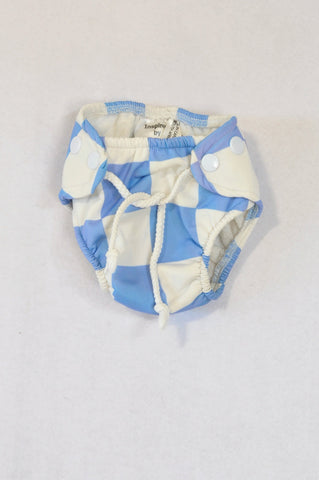 Unbranded Blue & White String Bloomers Boys 6-12 months