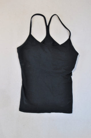 Unbranded Plain Black Racerback Tank Top Women Size M
