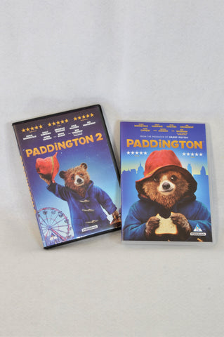 2 Pack Paddington 1 & 2 Kids DVDs Unisex 3-10 years