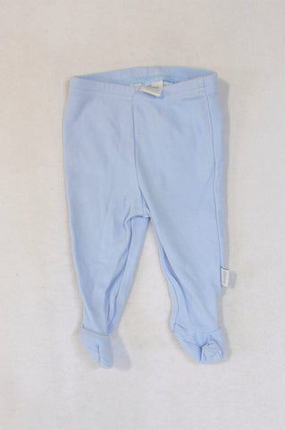 Rue de Lapinou Sky Blue Bunny Rear Footed Leggings Unisex 3-6 months