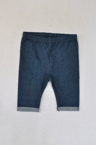 New Ackermans Cropped Denim Look Leggings Girls 18-24 months