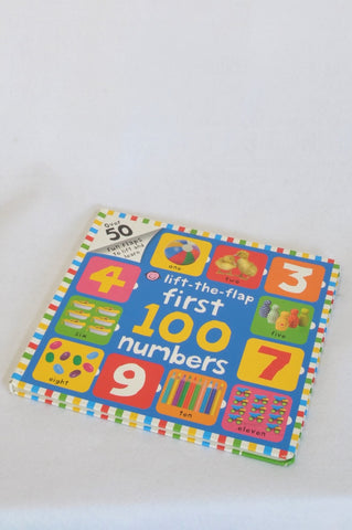 Priddy Lift The Flap First 100 Numbers Hardcover Book Unisex 1-3 years