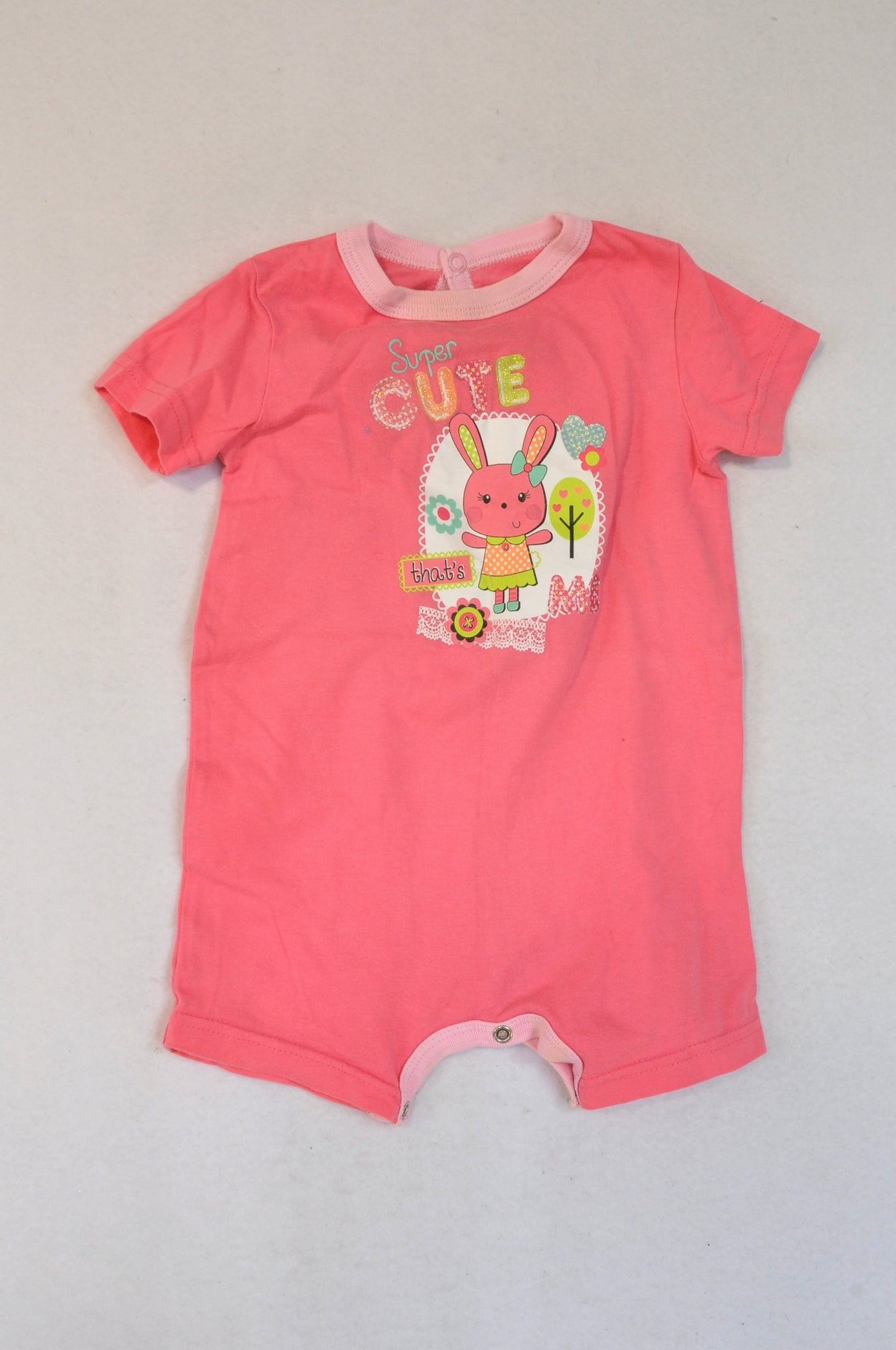 Woolworths Pink Cute That's Me Bunny Romper Girls 6-12 months