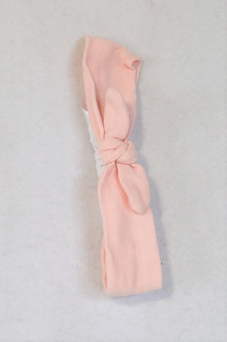 Earthchild Pink & White Bow Headband Girls 3-9 months