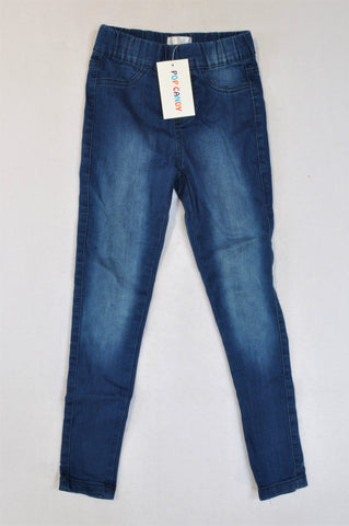 New Pop Candy Dark Wash Jeggings Girls 7-8 years
