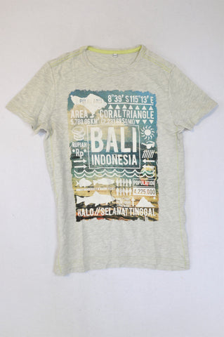 Unbranded Grey Bali T-shirt Boys 11-12 years