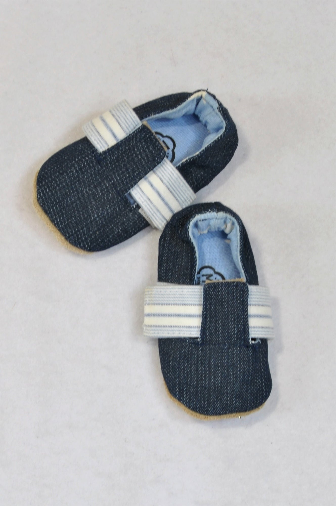 New Myang Size 1 Denim Belted Strap Shoes Unisex 3-6 months