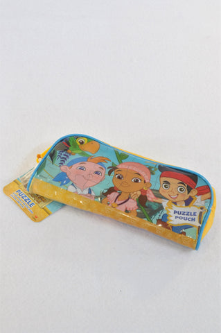 New Disney Junior Jake & the Never Land Pirates Pouch & 24 Piece Puzzle Unisex 2-6 years