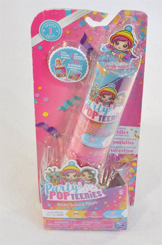 New Party Pop Teenies Double Suprise Popper Collectible Toy Girls 4-10 years