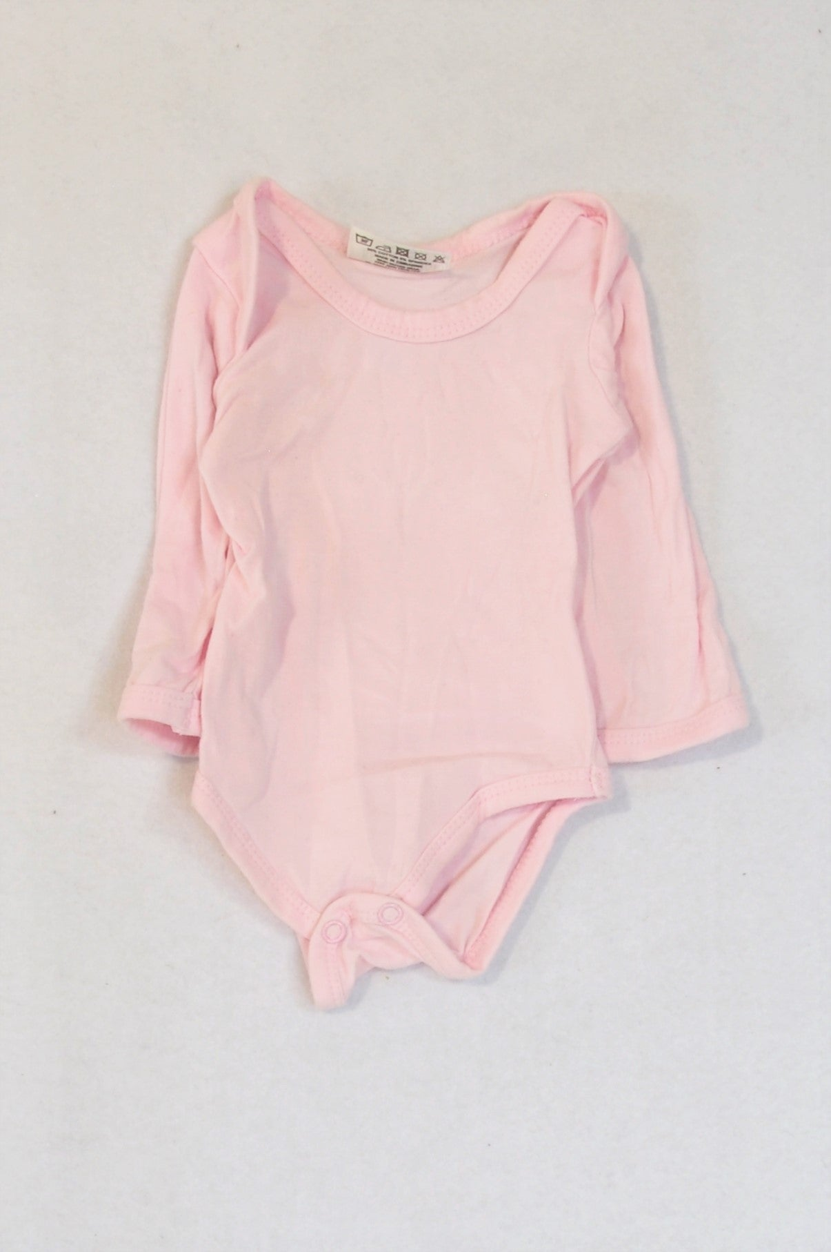 Real Baby Soft Pink Long Sleeve Baby Grow Girls N-B