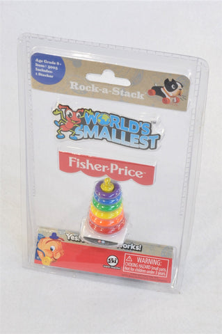 New World's Smallest Fisher-Price Rock-a-Stack Collectible Toy Unisex 6+ years