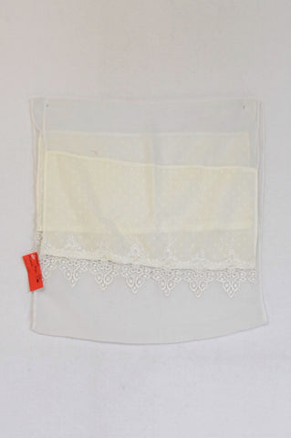 New Unbranded White Pindot Lightweight Lacey Scarf Women