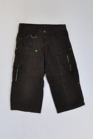 Mr. Price Brown Cargo Zipper 3/4 Pants Women Size 30