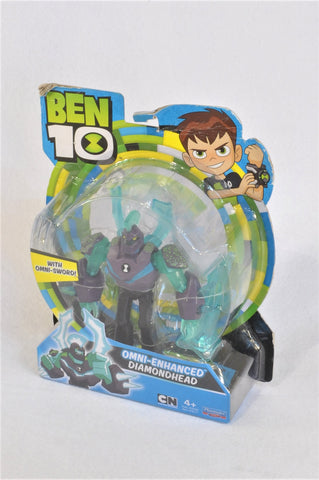 New Cartoon Network Ben 10 Omni-Enhanced Diamondhead Figurine Toy Boys 4+ years