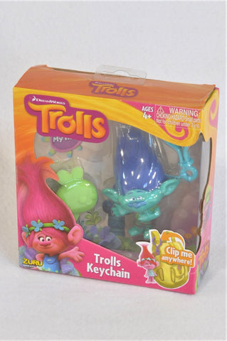 New Trolls Clip on Branch Keychain Collectable Toy Unisex 4+ years