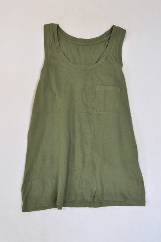 Country Road Army Green Tank Top Women Size XXS