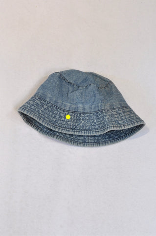 Naartjie Chambray Logo Embroidered Hat Girls 3-4 years