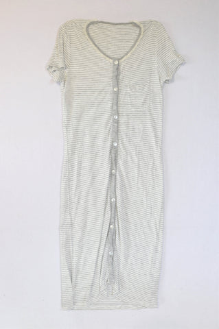 Woolworths White & Grey Striped Nighty Women Size XS