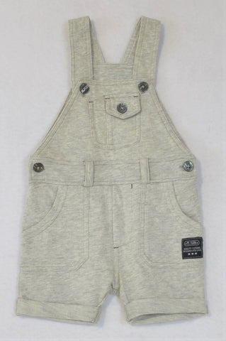 Woolworths Heathered Grey Romper Dungarees Boys 0-3 months