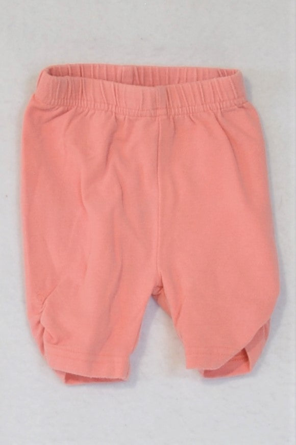 Ackermans Pink Ruched Cropped Leggings Girls 0-3 months