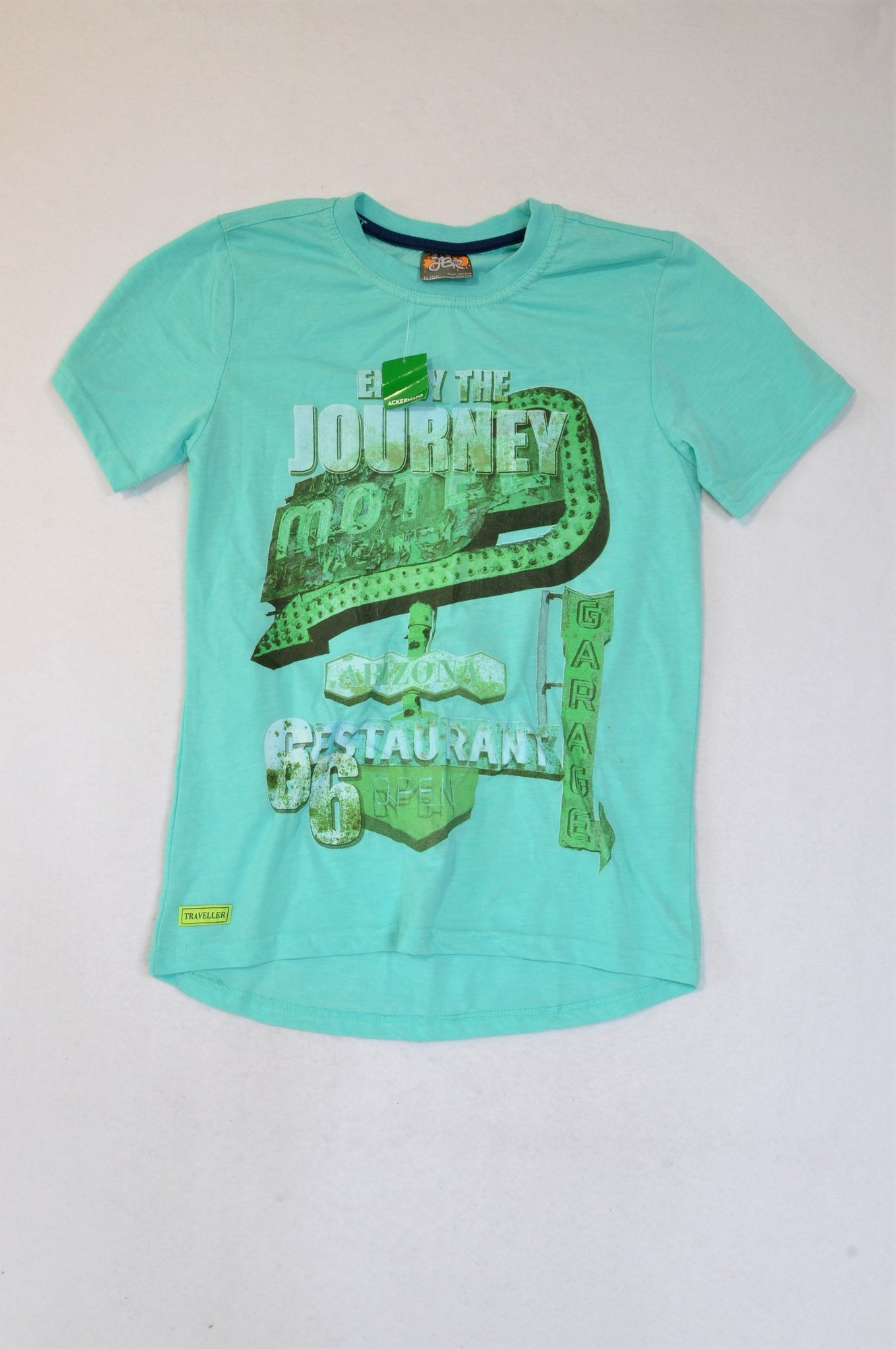 New JBR Aqua Green Journey T-shirt Boys 5-6 years