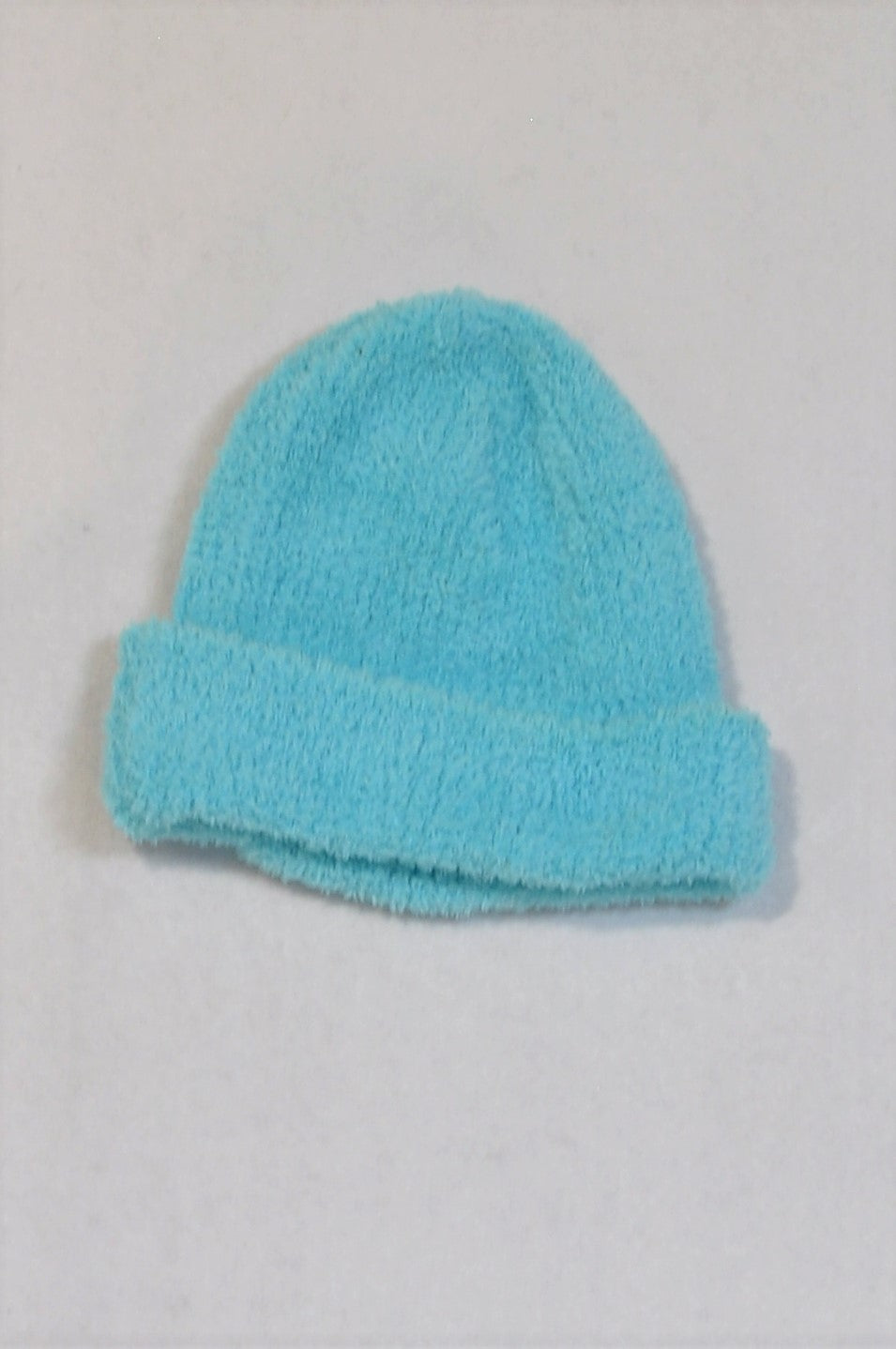 Unbranded Soft Blue Fuzzy Fleece Beanie Unisex 1-2 years