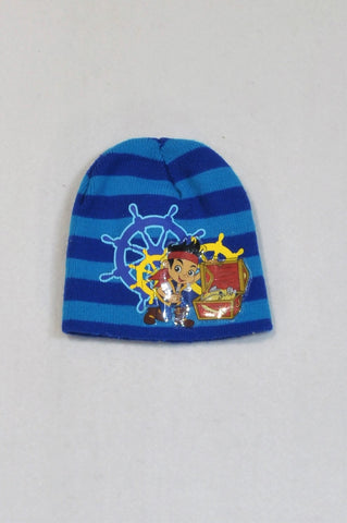 Unbranded Blue Jake Neverland Pirate Knit Beanie Boys 1-2 years