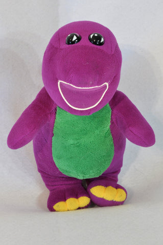 Unbranded Purple & Green Barnie Soft Toy Unisex 3-7 years