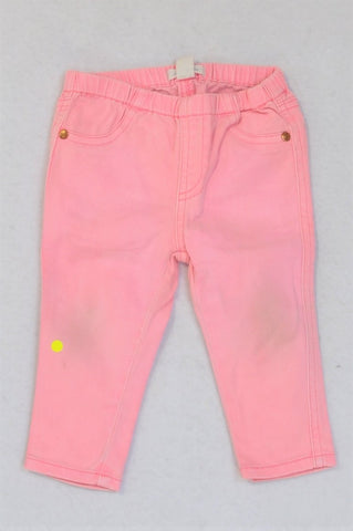 Country Road Bright Pink Jeans Girls 6-12 months