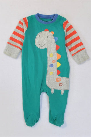 Next Green Dinosaur Onesie Boys 0-3 months