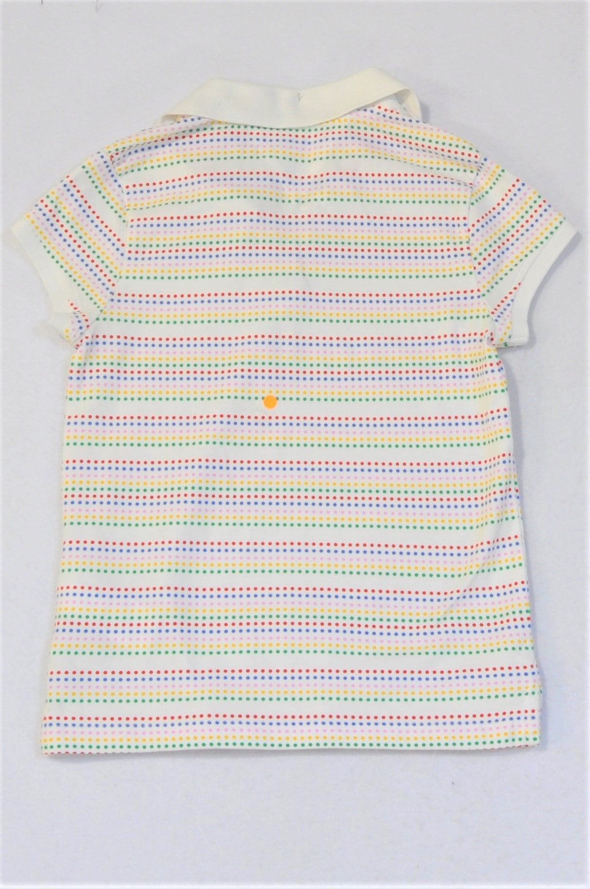 Tommy Hilfiger Colourful Dotty Stripes Collared T-shirt Girls 8-10 years