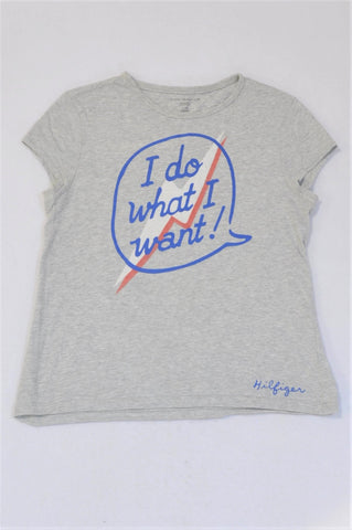 Tommy Hilfiger Grey I Do What I Want Speech Bubble T-shirt Girls 12-13 years