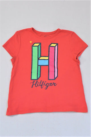 Tommy Hilfiger Red H Cap Sleeve T-shirt Girls 12-13 years