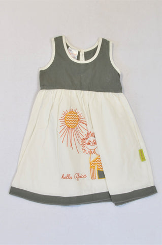 Hooligans Hello Africa Cat Dress Girls 1-2 years