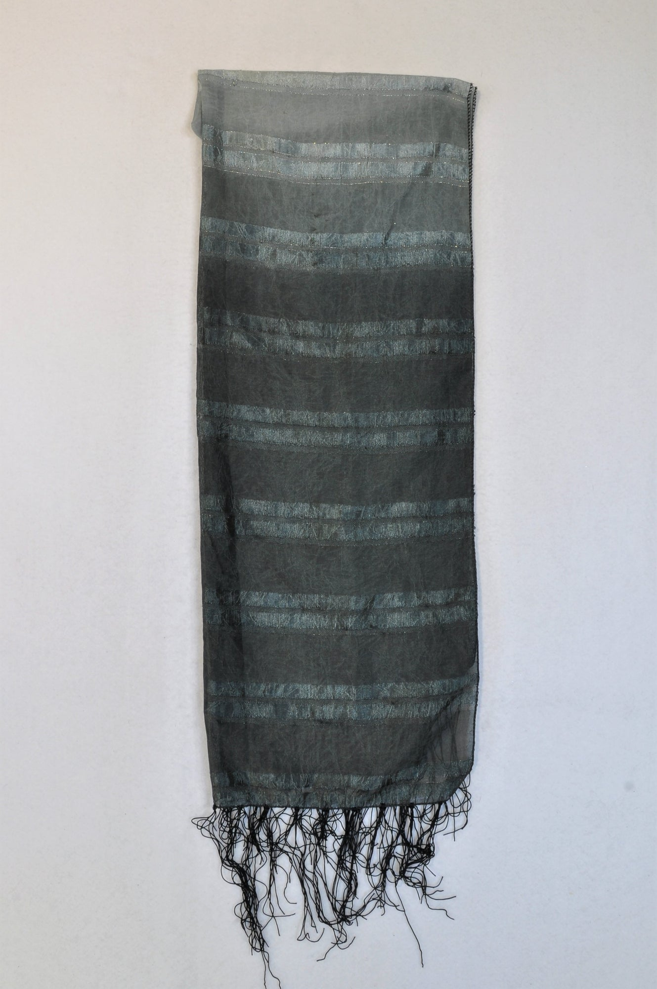 Unbranded Grey & Black Ombre Scarf Women