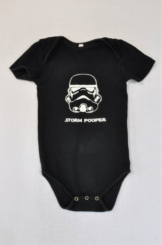 Unbranded Black Storm Pooper Baby Grow Unisex 18-24 months