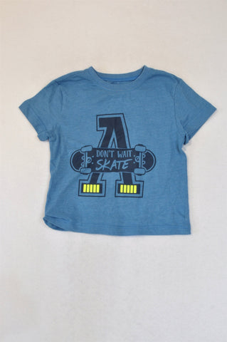 Woolworths Blue Don't Wait, Skate T-shirt Boys 18-24 months