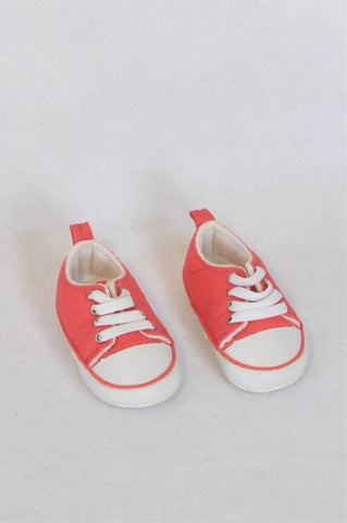 Real Baby Size 1 Red Sneaker Shoes Boys 3-6 months