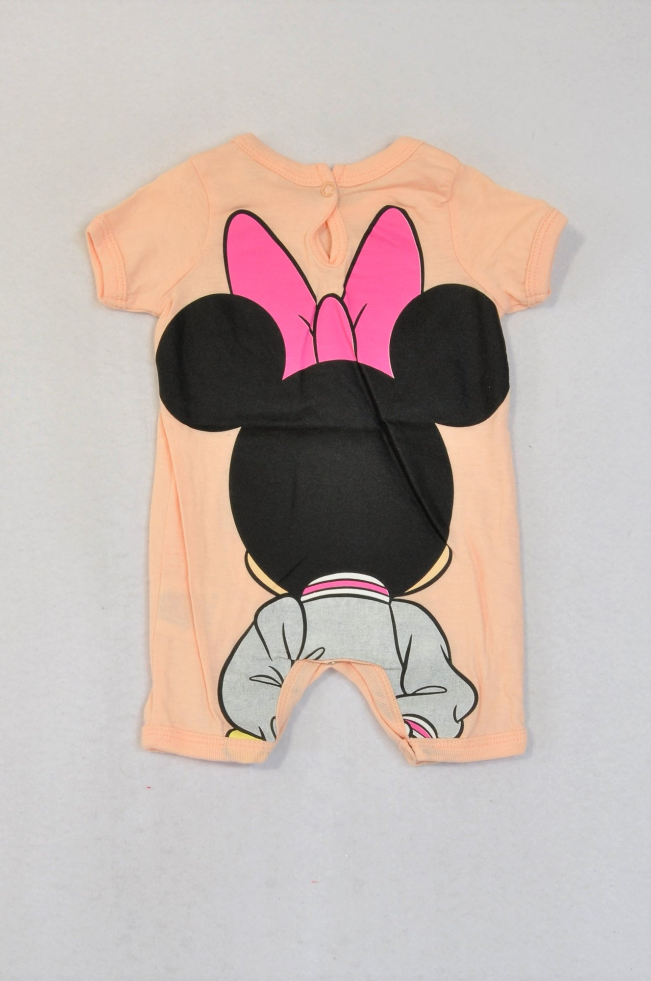 Disney Peach Minnie Mouse Romper Girls 0-3 months