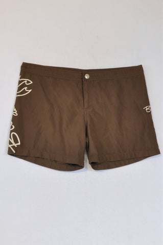 Billabong Brown Swim Shorts Women Size 10