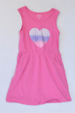 Woolworths Pink Heart Dress Girls 6-7 years
