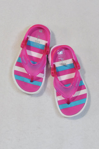 New Woolworths Size 4 Pink & Blue Flip Flops Girls 12-18 months