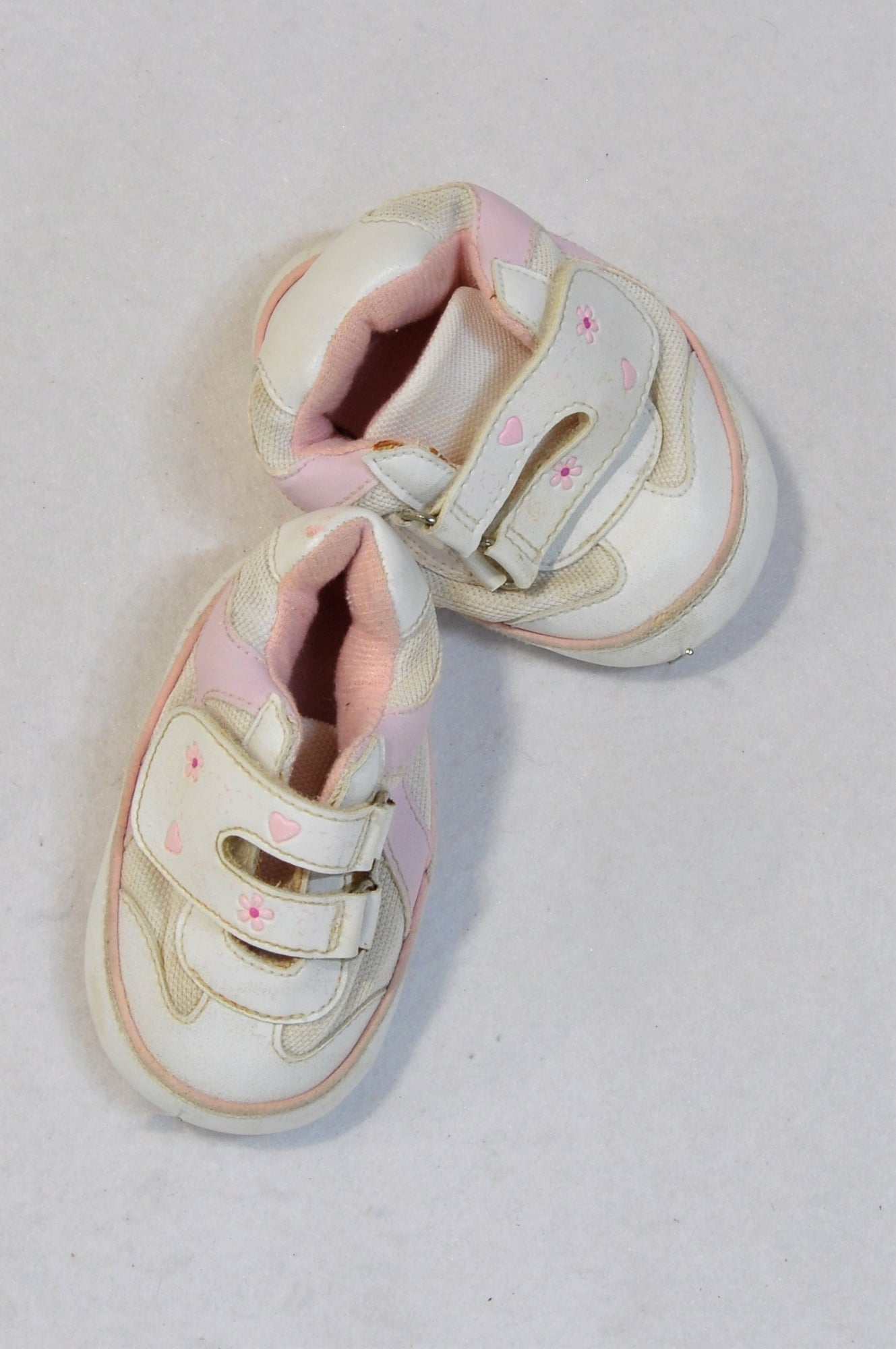 Woolworths Size 0 Pink & White Ditsy Flower Shoes Girls 0-6 months