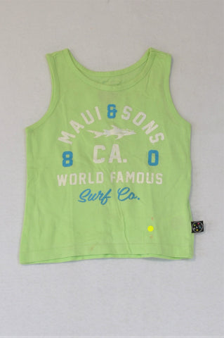 Maui & Sons Lime Tank Top Boys 3-4 years