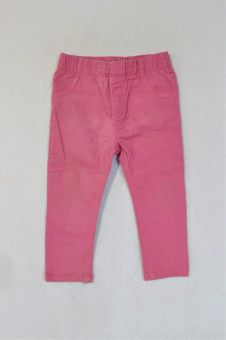 Ackermans Basic Rose pink Jeggings Girls 12-18 months