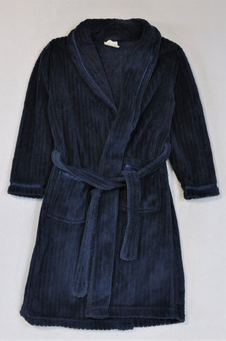 KDS Navy Fleece Dressing Gown Boys 4-5 years